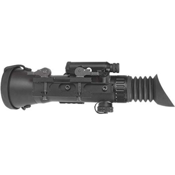 """PRG Defense Rifle Scope 3 PRG Defense 15WOL422103021 Model Wolverine 4 NL2 Gen 2+""""Level 2"""" Night Vision Rifle Scope with Sioux850 Long-Range Infrared Illuminator, 4X Magnification, 10m to Infinity Focus Range"""