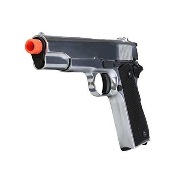 BULLDOG AIRSOFT Airsoft Pistol 7 SR1911 Airsoft Gas Pistol with Free Speed Loader BBS and Gun Case [Airsoft Blowback]