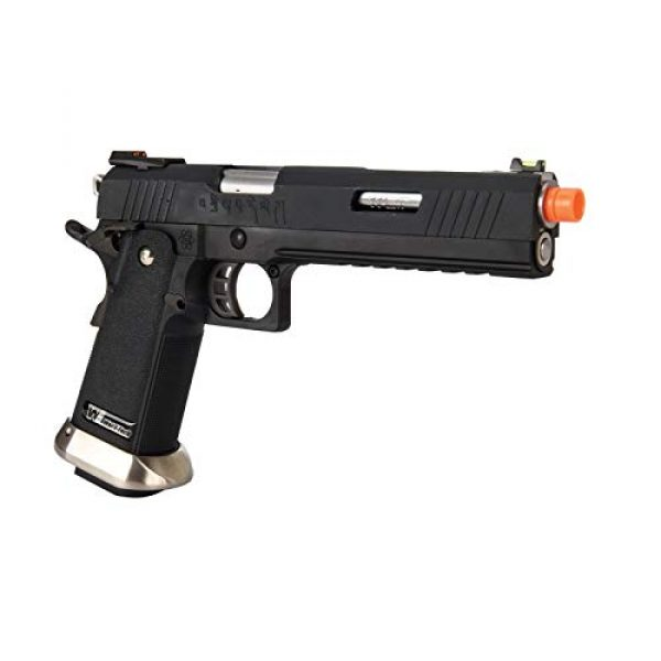 """Lancer Tactical Airsoft Pistol 4 Lancer Tactical WE-Tech Hi-Capa 6"""" IREX Full Auto Competition GBB Airsoft Pistol Black with Markings"""