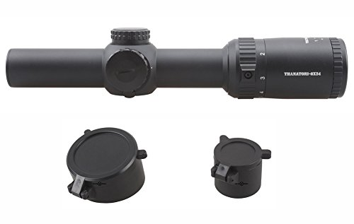 TAC Vector Optics Rifle Scope 4 TAC Vector Optics Thanator 1-8x24 CQB Compact Riflescope 1/10 MIL Adjust Scope Low Profile Turret VTC MIL Size Etched Glass Reticle