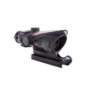 Trijicon Rifle Scope 1 Trijicon ACOG 4 X 32 Scope Dual Illuminated Chevron .223 Ballistic Reticle, Red