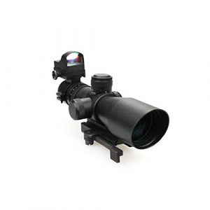 DJym Rifle Scope 1 DJym 3-9X42E and HD107R Combined Sights, Rifle Scope Waterproof, Shockproof and Anti-Fog