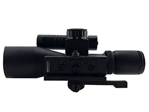 Aim Sports Rifle Scope 6 AIM Sports TACBRO Tactical 2.5-10X40MM Dual III Scope with Green Laser Duplex Reticle