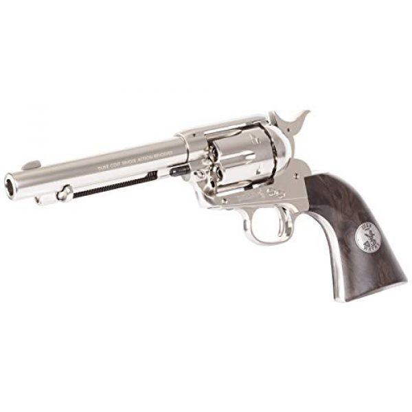 Colt Air Pistol 4 Colt John Wayne CO2 Pellet Revolver, Nickel - 0.177 Caliber