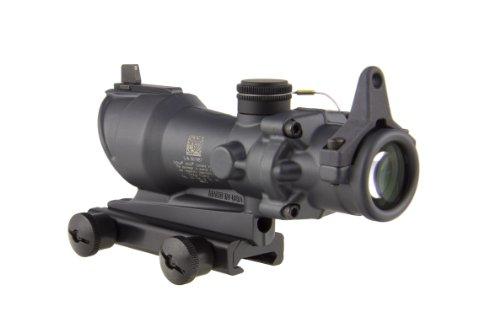 Trijicon Rifle Scope 3 Trijicon ACOG TA01-D-100317 4x 32 Tritium Only, Center Illuminated Amber Crosshair .223 Reticle Scope, Sniper Gray