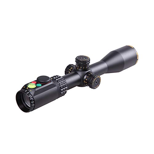 Sniper Rifle Scope 2 WKP1.5-6X44SAL Hunting Scopes Side Parallax Adjustment Glass Etched Reticle RG Illuminated with Bubble Level