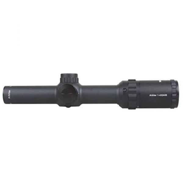 Vector Optics Rifle Scope 4 Vector Optics Arbiter 1-4x24mm, 1/2 MOA, Red Dot Illuminated Reticle Compact Tactical Second Focal Plane (SFP) Riflescope