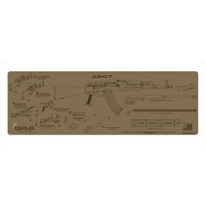 Cerus Gear Gun Cleaning Mat 1 Cerus Gear AK-47 Instructional Rifle Promat, Coyote Tan