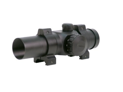 Hi-Lux Optics Rifle Scope 1 Hi-Lux Optics Red-Dot Series 1x25 Riflescope with Rings, Matte Black