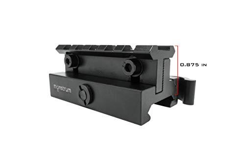 Monstrum Rifle Scope 7 Monstrum P330 Marksman 3X Prism Scope | RM5-AH Adjustable Height Riser Mount with Quick Release | Bundle