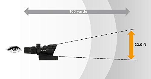 WINFREE Rifle Scope 7 WINFREE ohhunt 4x32 Hunting RifleScopes Green Etched Reticle Real Fiber Optics Tactical Optical Sights Scope