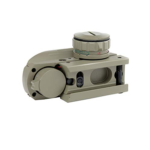 DJym Rifle Scope 2 DJym Sand Color Red and Green Dot Reflex Sight Scope with Broad Gauge Electrodeless Used for Hunting Rifle Scope