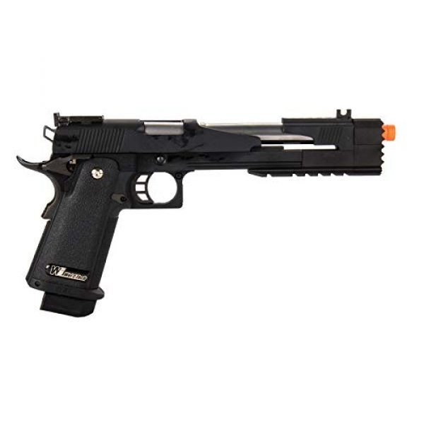 "Lancer Tactical Airsoft Pistol 2 Lancer Tactical WE-Tech Hi-Capa 7.0""Dragon Long Slide Full Auto Gas Blowback Airsoft Pistol with Standard Grip Black"