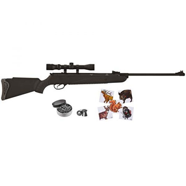 Wearable4U Air Rifle 1 Hatsan Mod 85 Spring Combo Air Rifle with Wearable4U 100x Paper Targets and Lead Pellets Bundle