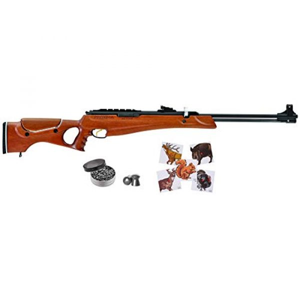 Wearable4U Air Rifle 1 Hatsan Proxima Walnut Air Rifle with Included Wearable4U 100x Paper Targets and Pellets Bundle