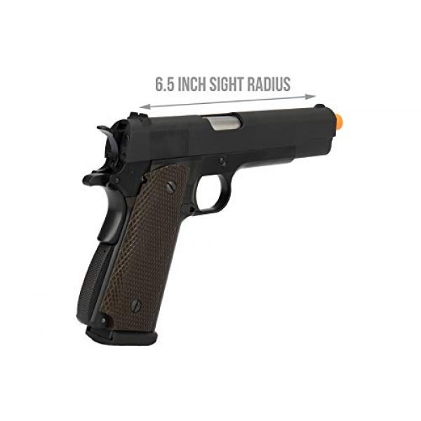 Lancer Tactical Airsoft Pistol 3 Lancer Tactical WE 1911 High Capacity Full Metal Airsoft Gas Blowback Pistol Black 330 FPS