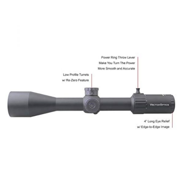 Vector Optics Rifle Scope 4 Vector Optics Marksman 6-24x50mm, 1/10 MIL, 30mm Tube, First Focal Plane (FFP) Hunting Riflescope