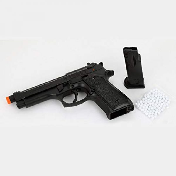 GUN STORM Airsoft Pistol 3 GUN STORM Beretta M92FS Plastic Toy BB Pistol, Powerful Hopup Airgun, Black