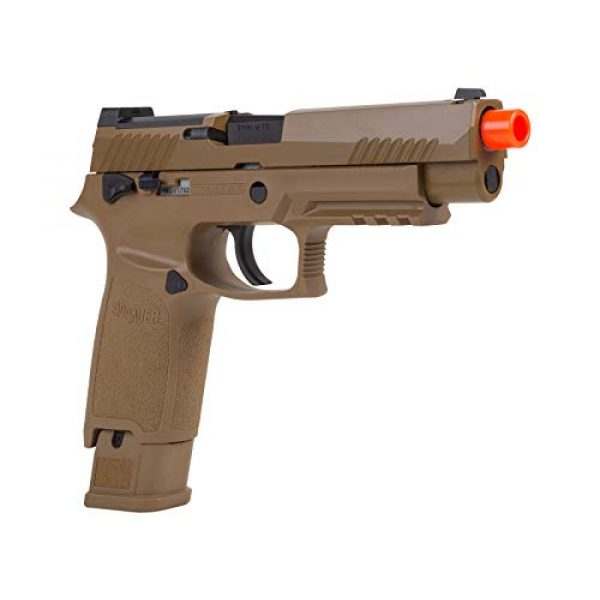 Sig Sauer Airsoft Pistol 2 Sig Sauer, SIG AIR, ProForce M17 Gas Blowback Airsoft Pistol, Coyote Tan, One Size