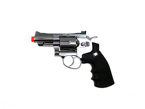 WG Airsoft Pistol 1 WG model-708s 2 revolver full metal co2 non-blowback/silver included 4 revolver holster-nylon(Airsoft Gun)
