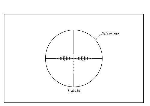 Huskemaw Rifle Scope 3 Huskemaw HO Tactical Series, 5-30x56 Riflescope, Black,