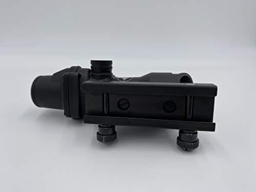 Spina Rifle Scope 6 Clone Skull ACOG 4X32 Fiber Lit Green Illuminated Chevron Scope Tactical