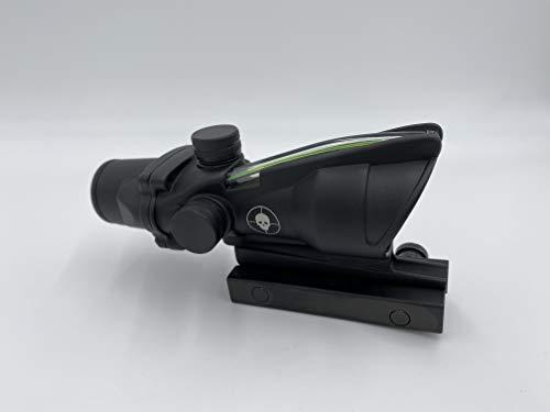 Spina Rifle Scope 5 Clone Skull ACOG 4X32 Fiber Lit Green Illuminated Chevron Scope Tactical