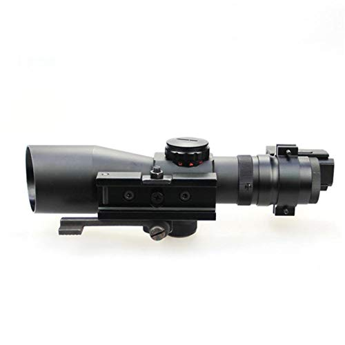 DJym Rifle Scope 6 DJym 3-9X42E and HD107R Combined Sights, Rifle Scope Waterproof, Shockproof and Anti-Fog