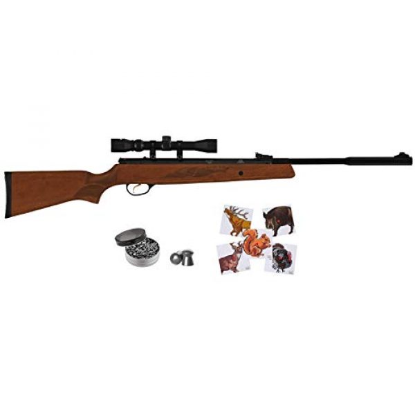 Wearable4U Air Rifle 1 Hatsan Mod 95 Vortex Combo QuietEnergy QE Air Rifle, Walnut with Included Wearable4U 100x Paper Targets and Lead Pellets Bundle