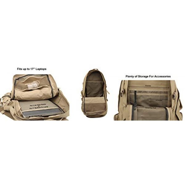 NPUSA Tactical Backpack 5 NPUSA Mens 22 Inch Large Military Tactical Gear Molle Hydration Ready Hiking Backpack Bag + Flashlight