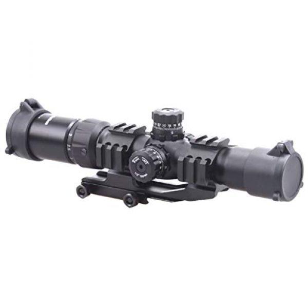 Vector Optics Rifle Scope 5 Vector Optics Mustang 1.5-4x30mm, 1/2 MOA, 30mm Tube, Red, Green & Blue Illuminated Chevron Reticle,Tactical Second Focal Plane (SFP) Riflescope