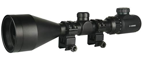 TWP Rifle Scope 3 TWP T3-12x56 Riflescope Rangefinder,Red and Green Illuminated, Heavy Duty Scope Ring Weaver Mount