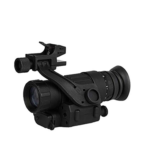 Without Rifle Scope 1 Toy Gun Sight Red dot Sight Magnification Hunting Night Vision Goggles New PVS-14 Digital Night Vision Goggles Shooting Telescope CL27-0008 (Color : Black)