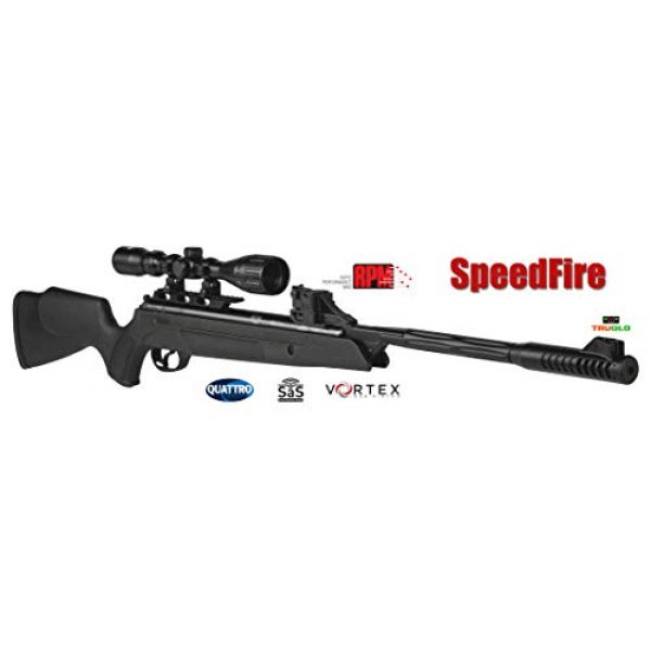 Wearable4U Air Rifle 2 Hatsan SpeedFire Air Rifle, Black with Included Wearable4U 100x Paper Targets and Lead Pellets Bundle