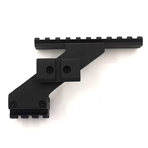 SUISHI Rifle Scope Base 1 SUISHI Metal Tactical Weaver Picatinny Top & Bottom Rail Scope Mount Fits Glock Front Red Dot Laser Sight