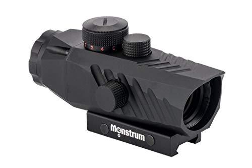 Monstrum Rifle Scope 2 Monstrum P330 Marksman 3X Prism Scope | RM5-AH Adjustable Height Riser Mount with Quick Release | Bundle