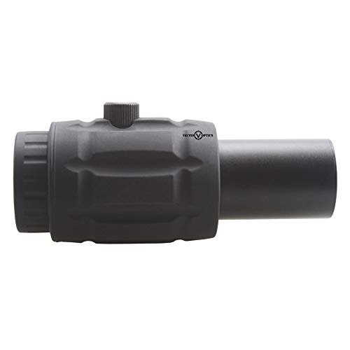 KTAIS Rifle Scope 4 KTAIS Vector Optics Tactical Adjustable 4X Magnifier fit for Red Dot Sight with Flip to Side Mount Shooting Accessories (Color : Black)