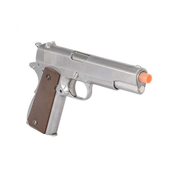 WE Airsoft Pistol 5 WE Tech M1911 Metal GBB Airsoft Pistol CO2 Version Chrome