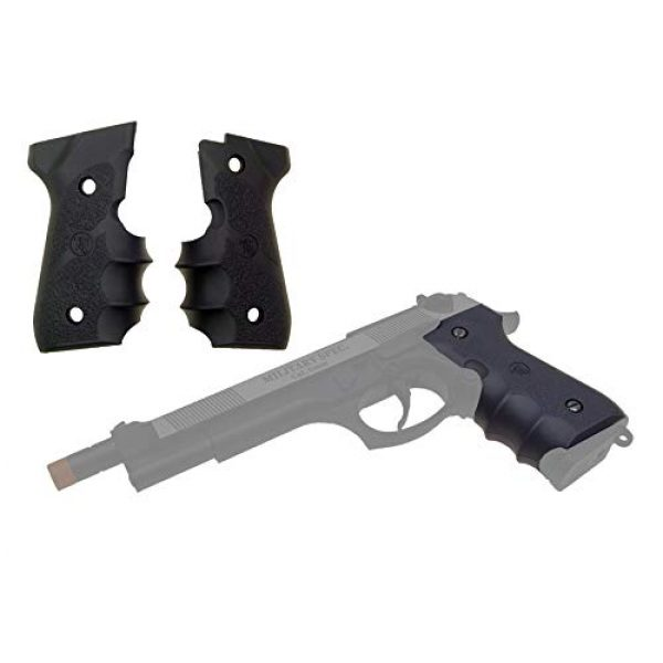 KJW Airsoft Pistol 6 KJW Tactical M9 45 Grips Gas Blowback Airsoft Pistol M9a1 Compatible WE/HFC M9 Series Airsoft Pistol Grip Ergonomic Comfort Tactical Pistol Grip Airsoft Accessory Starter Pack