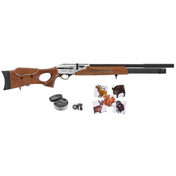 Wearable4U Air Rifle 1 Hatsan Galatian Walnut QE Air Rifle with Included Wearable4U 100x Paper Targets and Lead Pellets Bundle