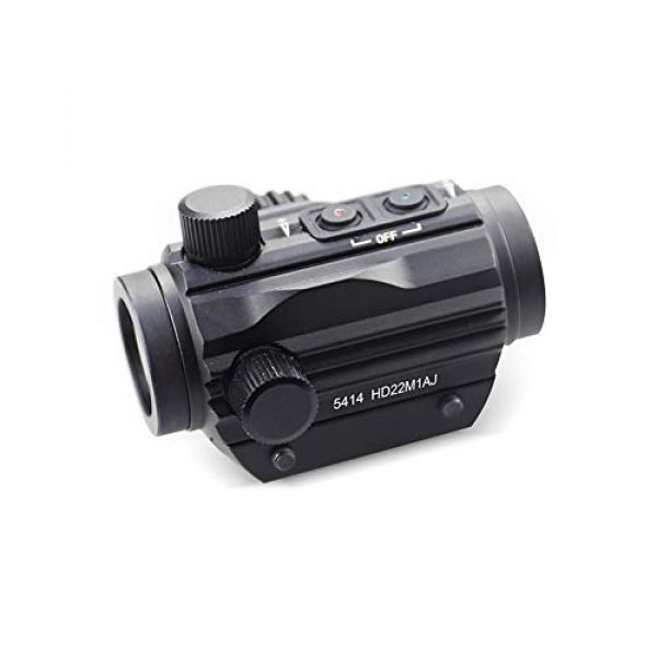 DJym Rifle Scope 5 DJym HD Silver Film Without Magnification, Red Dot Sight Shockproof Waterproof Stable Sight
