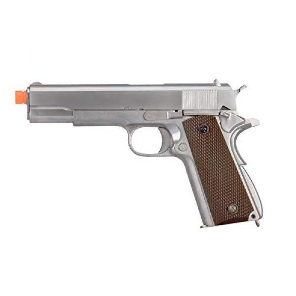 WE Airsoft Pistol 1 WE Tech M1911 Metal GBB Airsoft Pistol CO2 Version Chrome