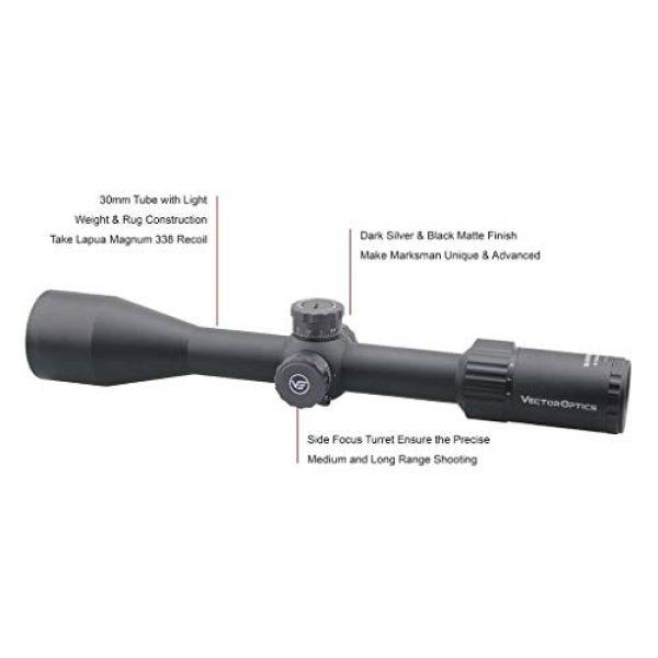 Vector Optics Rifle Scope 3 Vector Optics Marksman 6-24x50mm, 1/10 MIL, 30mm Tube, First Focal Plane (FFP) Hunting Riflescope