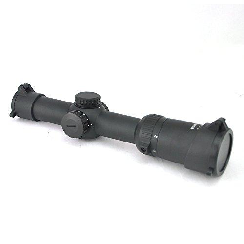Visionking Rifle Scope 4 Visionking Optics 1-8x24 Long Eye Relief Rifle Scope 1/10 MIL Low Profile Turret Illuminated Dot