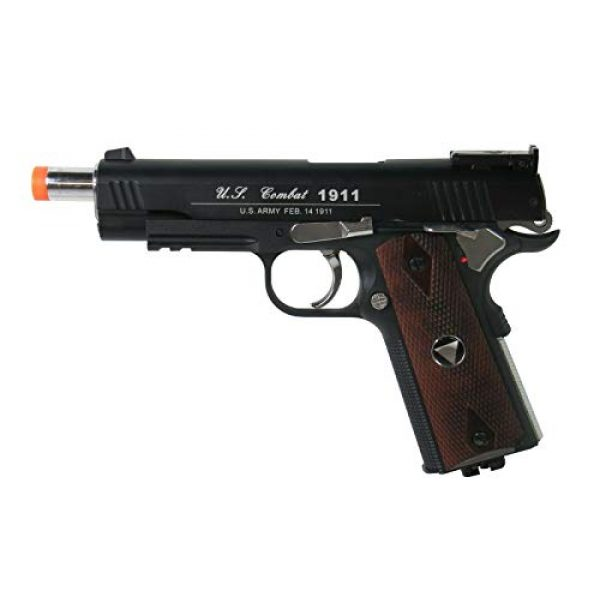 WinGun Airsoft Pistol 3 WG Special Combat Pistol 1911 CO2 Blowback Airsoft Pistol Black with Brown Grip