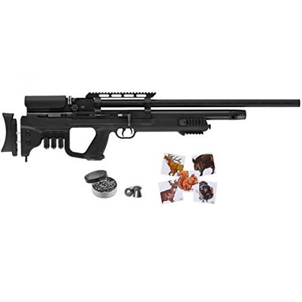 Wearable4U Air Rifle 1 Hatsan Gladius Long Air Rifle with Included Wearable4U 100x Paper Targets and Lead Pellets Bundle