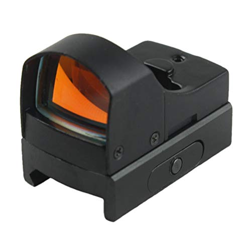Without Rifle Scope 1 Toy Gun Sight Red dot Sight Magnification Mini Holographic Sight Light Red Green Dot Laser Scope Optics Sight (Color : Black)