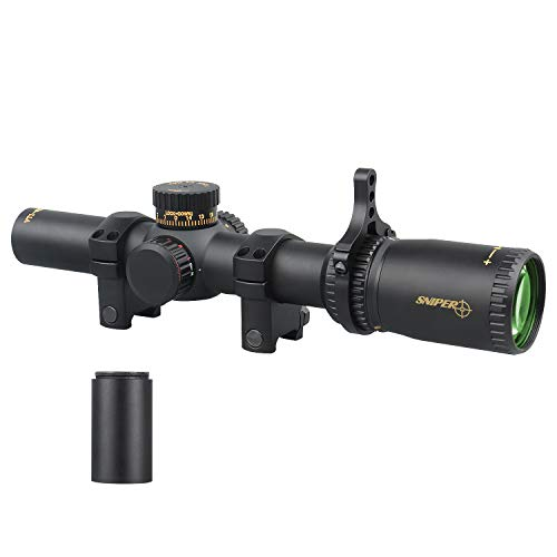 Sniper Rifle Scope 1 VT1-6X24FFP First Focal Plane (FFP) Scope with Red/Green Illuminated Reticle Includes Scope Mount