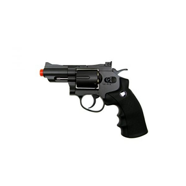 WG Airsoft Pistol 1 WG model-708 2 revolver full metal co2 non-blowback/black included 4 revolver holster-nylon(Airsoft Gun)