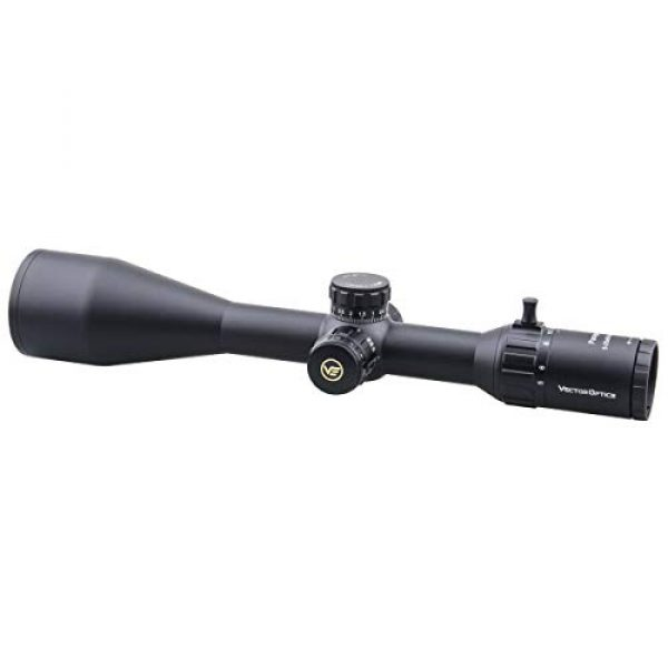 Vector Optics Rifle Scope 1 Vector Optics 5-25x56mm Second Focal Plane (SFP) Genii 1/10 MIL Tactical Riflescope with Red Illuminated Reticle, 30mm Mount Rings, Lens Cover, 3 Inch Sunshade (Matte Black)